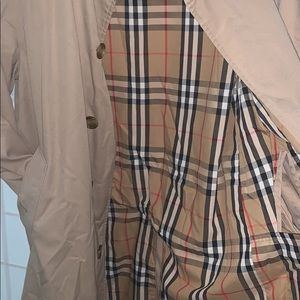 Women Vintage Burberry Dress Trench Coat